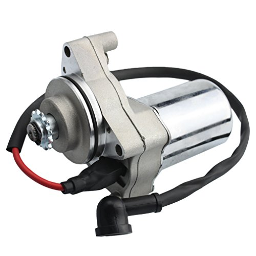 Motor Starter Contact - GOOFIT top Electric Starter Motor for 50cc 70 cc 90cc 100 cc 110cc 125 cc 4 Stroke Engine Dirt Bikes Go Karts ATVs Pit Bike Dune Buggy Sandrail Quad Wheelers SSR for Roketa Taotao Coolster Jonway