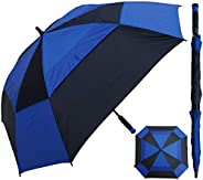 RainStoppers Windbuster Square Golf Arc Umbrella with Foam Handle, 60&