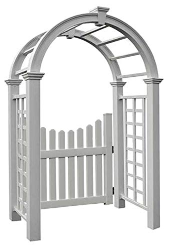 - BestNest New England Nantucket Deluxe Arbor and Cottage Picket Gate