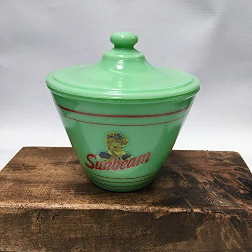 Jade Glass SUNBEAM Grease Bowl - Multi Use Food Storage Bowl Vintage Diner Style