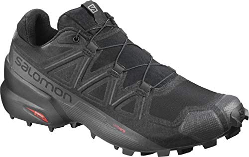 Men's Speedcross 5 Wide Trail Running Shoes, Black/Black/PHANTOM, 8 Wide