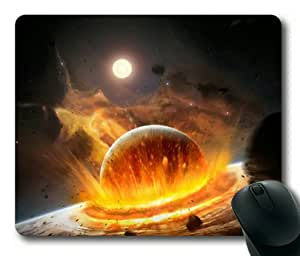Planet Impact Rectangle Mouse Pad by Sakuraelieechyan