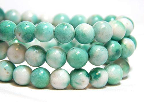 Mint Green Candy Jade Gemstones Round Beads Colorful Full Strand - Candy Jade Gemstone