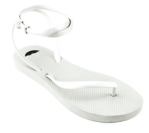 Fleeps Kvinners Snø Hvit Flip Flop Sandaler - Unik, Stilig, Behagelig Flip-flop Som Gir Tilbake Til Kvinners Utdanning