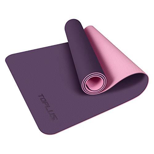 TOPLUS Yoga Mat, Upgraded Non-Slip Texture 1/4 inch Pro Yoga