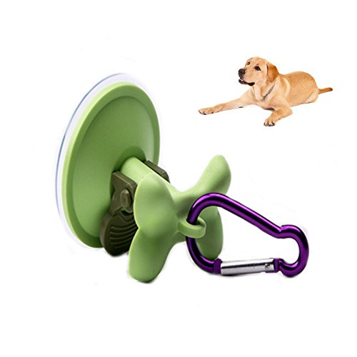 Dog Grooming Stay-N-Wash Tub Restraint Keeps Dog in Tub Secure-A-Dog Parking Hook with Suction Cup Outdoor Securing & Indoor Bath Tub Restraining. Best Hands-Free Dog Securing for Small to Medium Dogs