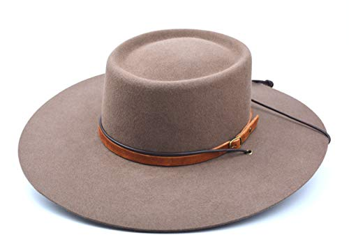The Mojave - Rabbit Fur Felt Vaquero Crown Bolero Hat - Wide Brim - Men Women