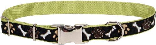 (Pet Attire Ribbon Adjustable Nylon Collar with Aluminum Buckle 5/8