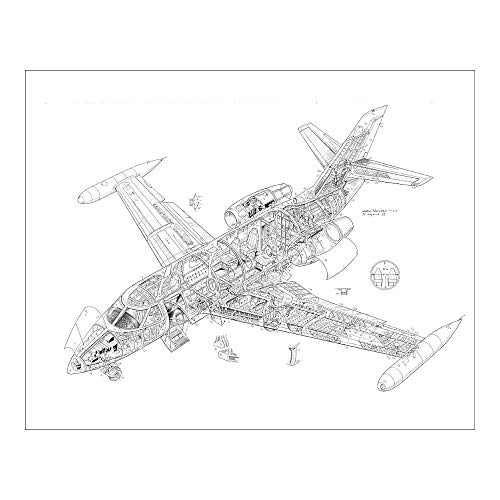 Media Storehouse 20x16 Print of Dassault Falcon 10 Cutaway Drawing (4572234)