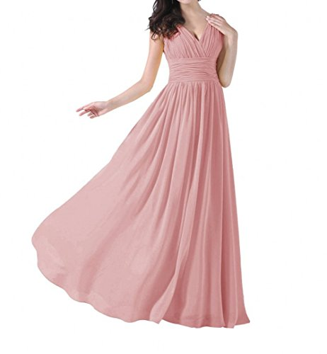Blush Long Dresses s Women Prom V Neck Beauty AK pfc81