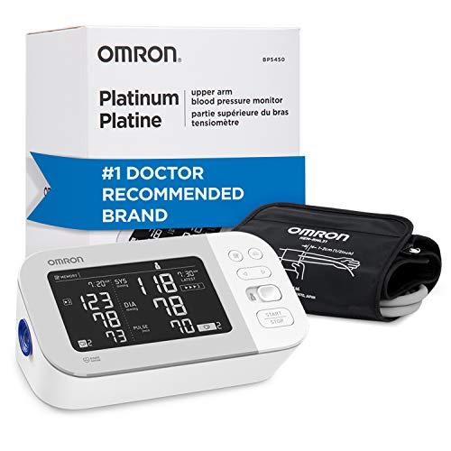 OMRON Platinum Blood Pressure Monitor, Premium Upper Arm Cuff, Digital Bluetooth Blood Pressure Machine, Stores Up To…