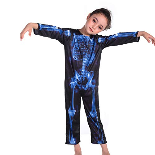 Leegleri Kids Halloween Skeleton Costume,Halloween Party Dress