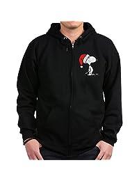 CafePress - Snoopy Santa - Zip Hoodie, Classic Hooded Sweatshirt with Metal Zipper
