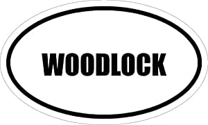 """6"""" printed WOODLOCK oval Euro style Magnet for any metal surface"""