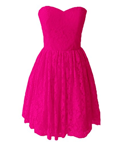 Sweetheart Cheap Prom Dresses Gowns Pink DreHouse Lace Hot Short Party Homecoming Women's BO5qF