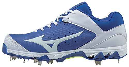 Mizuno Women's 9-Spike Swift 5 Metal Softball Cleats - Royal & White (Women's Size 7) by Mizuno