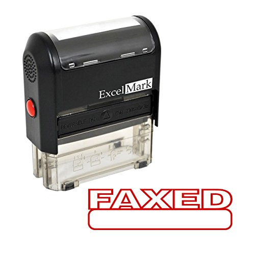 Re Ink Self Inking Stamps - FAXED Self Inking Rubber Stamp - Red Ink (Stamp Only)