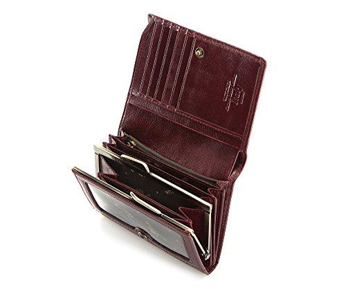 21 Scuro Grano 9 5x12 Borgogna Pelle 4 Materiale Cm Marrone 070 Wittchen Portafoglio Di 1 Dimensione 1SPnnB