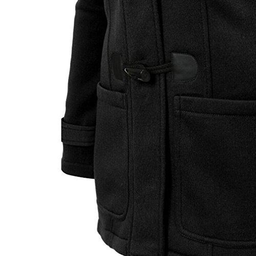 de Sudadera Jacket Lana con Capa Casual Parka Chaqueta Invierno Mujer Abrigo Capucha Pullover Negro wqf0FF