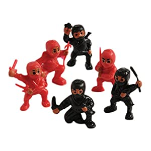 Lot Of 12 Assorted Ninja Action Figure Toys