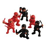 little ninja figures - Lot Of 12 Assorted Ninja Action Figure Toys