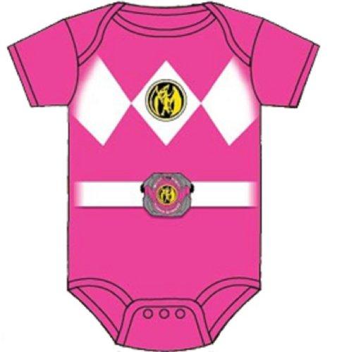 Power Rangers Pink Baby Ranger Costume Romper Onesie (12-18 Months)
