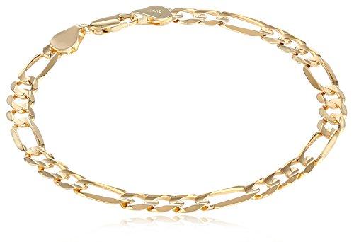 """Men's 14k Yellow Gold 6.1mm Figaro Bracelet, 8.25"""""""