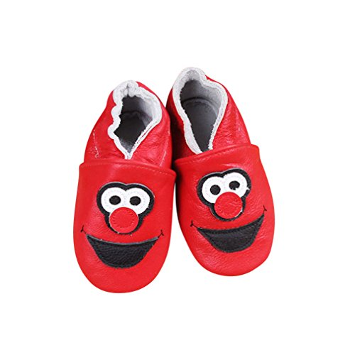 Baby Moccasins with Elmo Inspired Design for Boy Girl Infant Toddler Pre Walker Crib Shoe XS (4.5 Inches) -