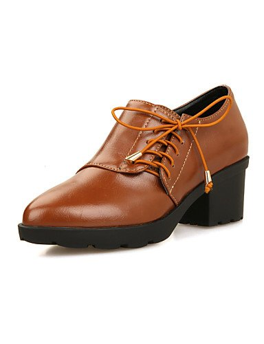 Cn39 Noir Njx Décontracté Brown Habillé Talon Bout Femme us8 Chaussures Pointu Eu39 Marron Travail Bureau Confort amp; Extérieure Uk6 Richelieu Gros wWx0rRCq8w