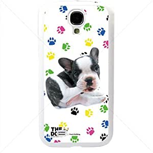 Cute Puppy Dogs For Samsung Galaxy S4 SIV I9500 TPU Case Cover (White)
