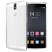 TUDIA Ultra Slim LITE TPU Bumper Protective Case for OnePlus One Smartphone (Clear)