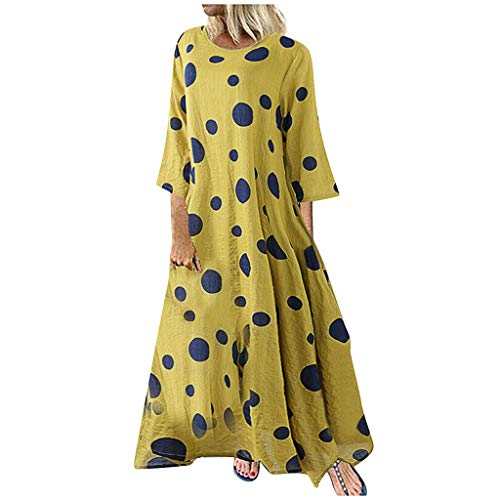 Womens Floral Printed Maxi Dress Casual Summer Sundress