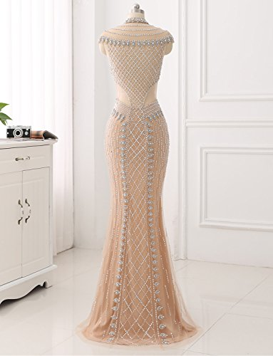Kristall Erosebridal Glasperlen Langes Handgefertigten Festkleid Formales Gerade Abendkleid BWx8Ovwq