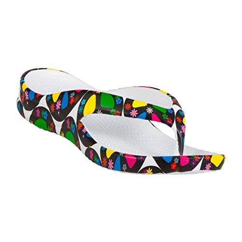 DAWGS Kids' Flip Flops Peace Size 2 ()