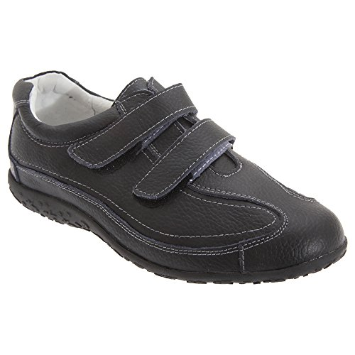Touch Shoes Fitting Boulevard Black Fastening Wide Womens Ladies Extra xnXq41a
