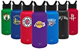 Simple Modern Los Angeles Lakers 32oz Summit Water Bottle with Straw Lid - NBA - 18/8 Stainless Steel Vacuum Insulated Powder Coated