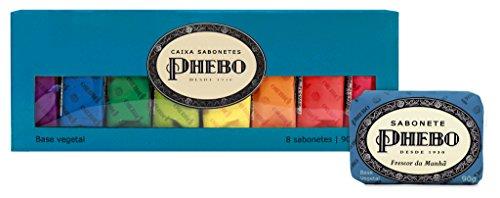 Linha Tradicional Phebo - Caixa Azul de Sabonetes em Barra de Glicerina com 08 unidades de 90 Gr - (Phebo Classic Collection - Glycerin Soap Collection Blue Set with 8 units of 3.2 Oz)