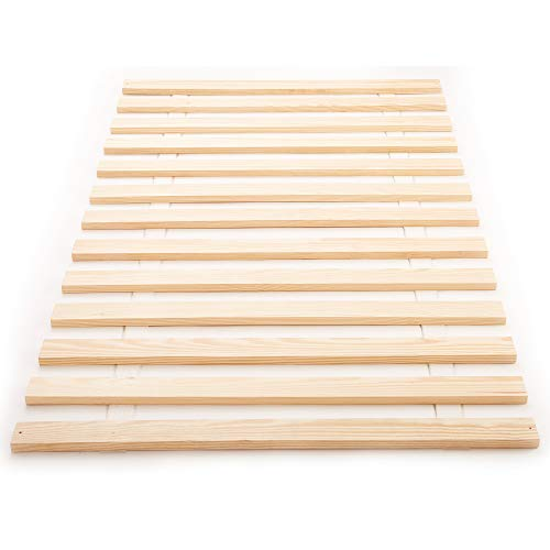 Classic Brands Xtreme Heavy-Duty Solid Wood Bed Support Slats | Bunkie Board, Euro Twin