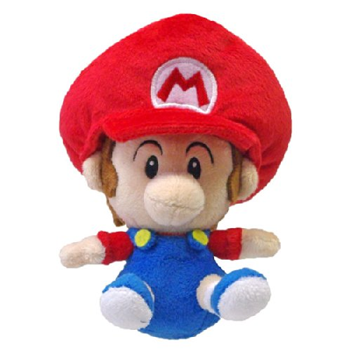 Amazon.com: Sanei - Super Mario Bros. Plush Figure Baby Mario 13 cm: Toys & Games