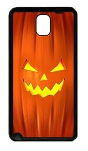 Galaxy Note 3 Case, Note 3 Cases - Jack O'Lantern Soft Rubber Bumper Case for Samsung Galaxy Note 3 N9000 TPU Black