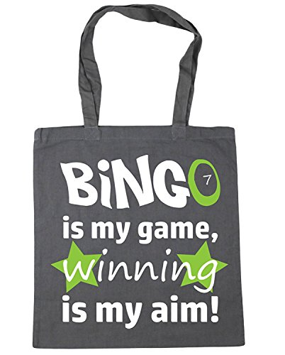 IrmaPetty Bingo is my Game, Winning is my Aim Tote Shopping Gym Beach Bag by IrmaPetty