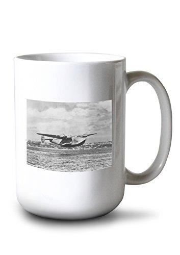 Lantern Press Boeing 314 China Clipper Over Water Airplane - Vintage Photograph (15oz White Ceramic Mug) ()