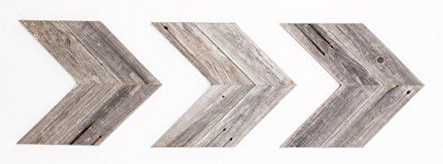 Decorative Wood (BarnwoodUSA Rustic Chevron Decorative Arrow Set of 3 - 100% Reclaimed Wood (Gray/Gray))