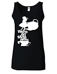 Disney Alice in Wonderland Tea All Mad Here White Women Vest Tank Top