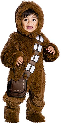 Rubie's Baby Star Wars Classic Chewbacca Deluxe Plush Costume Romper, Color As Shown, Infant]()