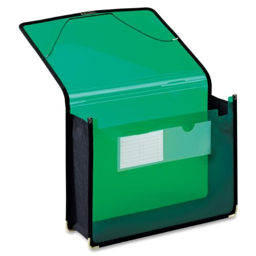 Globe-Weis/Pendaflex Poly File Wallet, 3.5-Inch Expansion, Elastic Cord Closure, Letter Size, Green (84041GR)