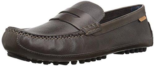 Cole Haan Men's Coburn Penny DRVR II Loafer, Stormcloud Textured Leather, 11 M US