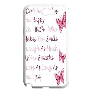 Custom Colorful Case for Samsung Galaxy Note 2 N7100, Happy Life Cover Case - HL-502748