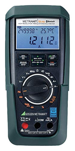 Gossen Metrawatt GOSSEN METRAWATT (R) METRA HIT ULTRA BT Full Size - Basic Features Digital Multimeter, -200(Deg) to 850(Deg) - METRA HIT ULTRA ()