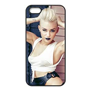 Hipster Miley Cyrus Super Fit iPhone 4/4s Case Pattern Design Solid Rubber Customized Cover Case for iPhone 4 4s 4s-linda804